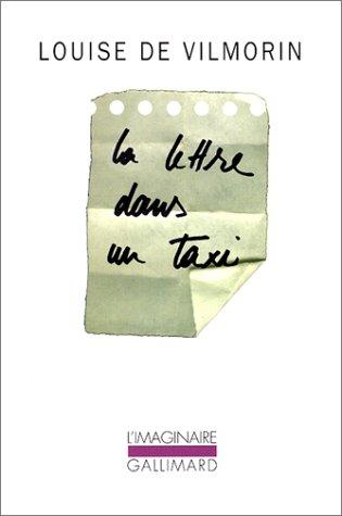 9782070751761: La lettre dans un taxi