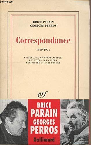 9782070752850: Correspondance: 1960-1971 (French Edition)