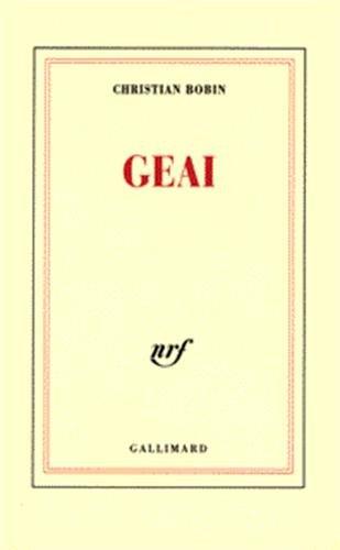 Geai (English and French Edition): Christian Bobin