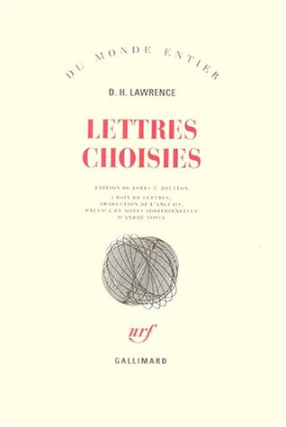 Lettres choisies (French Edition): David Herbert Lawrence