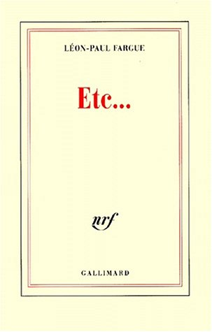 9782070756803: Etc-- (French Edition)