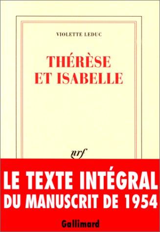9782070758951: Thérèse et Isabelle
