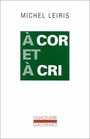 9782070759347: A Cor et à cri