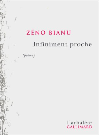 9782070759552: Infiniment proche (poème) (French Edition)