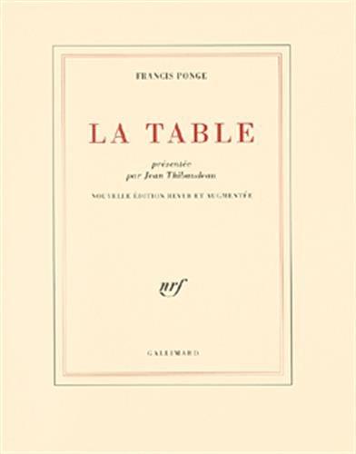 9782070765751: La Table