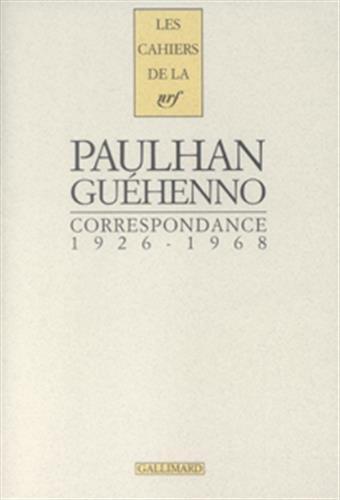 Correspondance 1926-1968 (French Edition): Jean Guéhenno