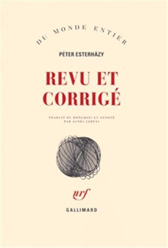 Revu et corrigé: Péter Esterhàzy