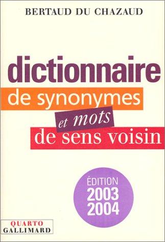 9782070768424: Dictionnaire de synonymes et mots de sens voisin (Quarto)