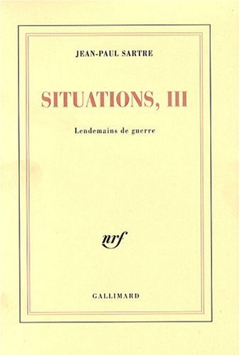 9782070768806: Situations, III : Lendemains de guerre