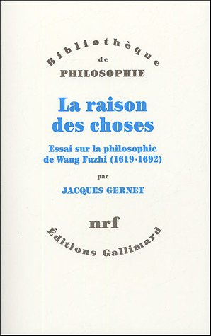 La raison des choses (French Edition): JACQUES GERNET