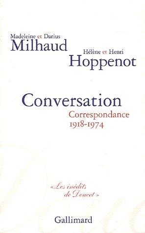 9782070774821: Conversation: Correspondance 1918-1974