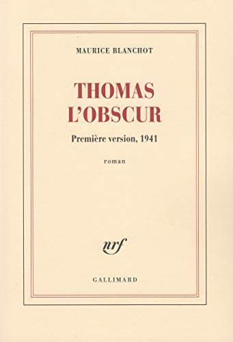 9782070776306: Thomas l'Obscur (Blanche)