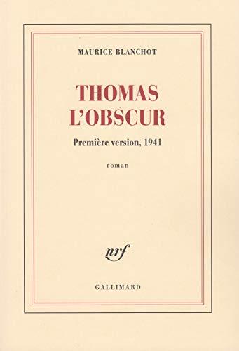 9782070776306: Thomas l'Obscur