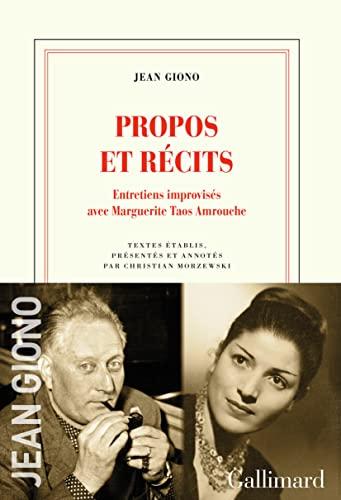 9782072915376: Propos et récits: Entretiens improvisés avec Marguerite Taos Amrouche