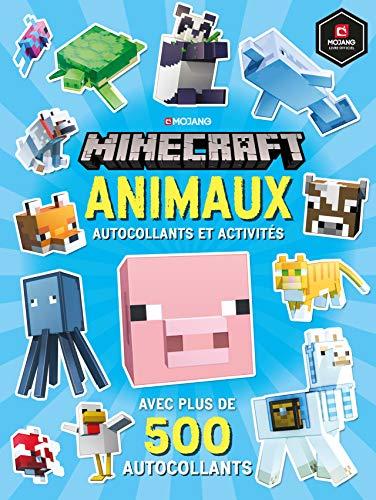 9782075138031: Minecraft : Animaux - Autocollants et activités - Livre officiel Mojang - De 6 à 9 ans
