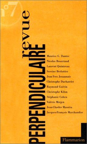 Revue perpendiculaire numéro 7, automne 1997: Collectif,