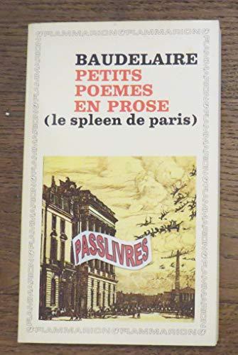 9782080701367 Petits Poemes En Prose Le Spleen De Paris