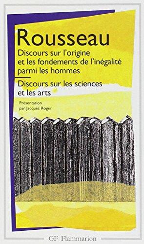 9782080702432: Discours sur l'origine et les fondements de l'inégalité parmi les hommes / Discours sur les sciences et les arts