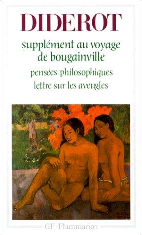 """9782080702524: Supplément au voyage de Bougainville : """"Pensées philosophiques"""", """"Lettre sur les aveugles"""""""