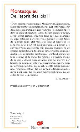 De l'esprit des lois (Philosophie (2)) (French: Montesquieu