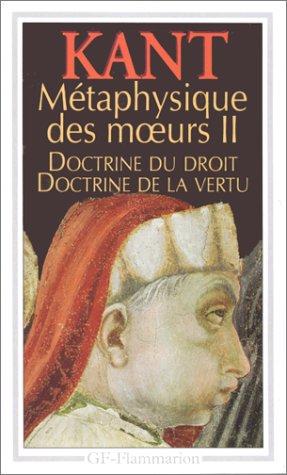 Métaphysique des moeurs : Tome 2: Doctrine: Emmanuel Kant