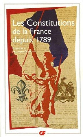 9782080712837: Les Constitutions de la France depuis 1789