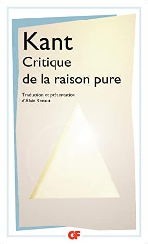 9782080713049: Critique de la raison pure ne (GF)