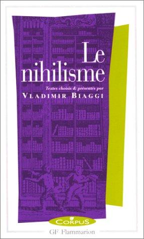 9782080730114: Le nihilisme