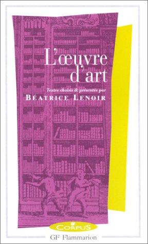 9782080730244: L'Oeuvre d'art