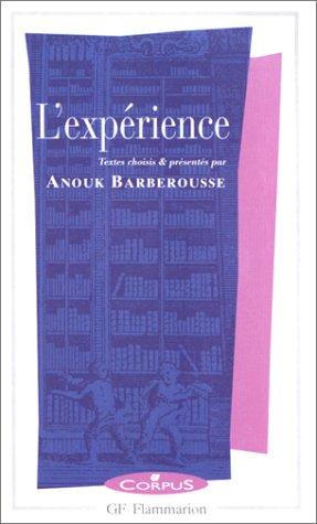 9782080730497: L'expérience