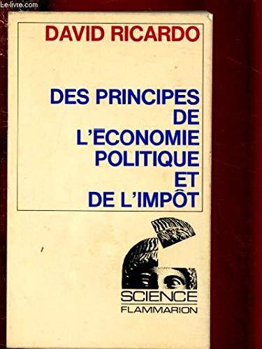 9782080810137: DES PRINCIPES DE L'ECONOMIE POLITIQUE ET DE