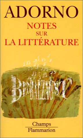 9782080814302: Notes sur la littérature