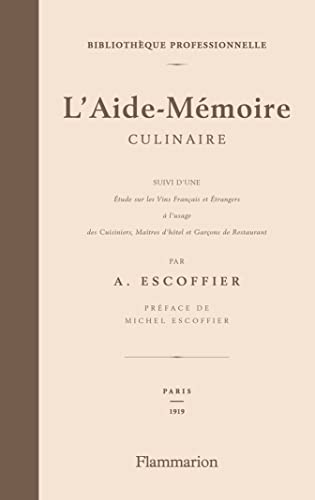 9782081201170: L'Aide-Memoire culinaire (French Edition)
