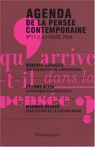 9782081218215: Agenda de la pensée contemporaine, N° 11, Automne 2008 :