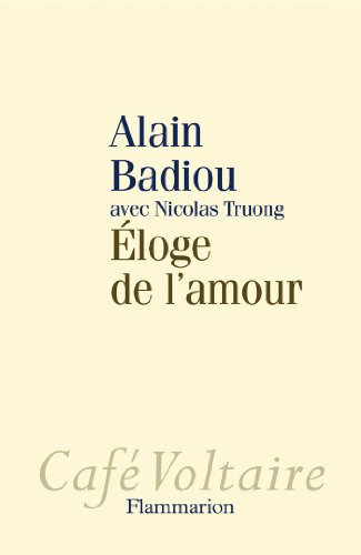 9782081233010: Eloge De L'amour Fl (French Edition)