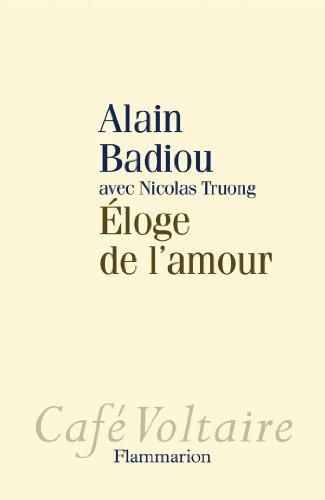 9782081233010: Eloge de l'amour (Café Voltaire)