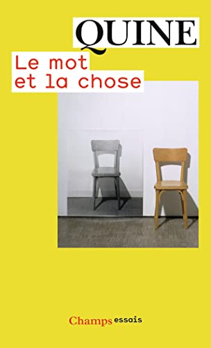 9782081234970: Le mot et la chose (French Edition)