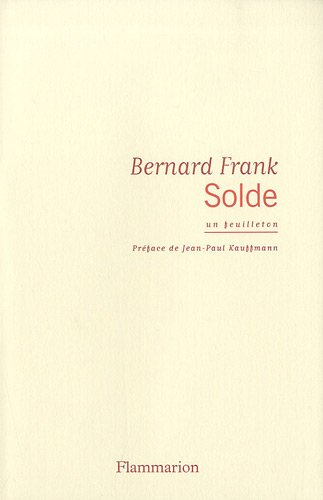 Solde: BERNARD FRANK