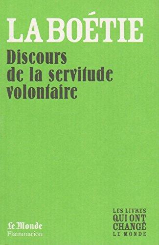 9782081243453: Discours de la Servitude Volontaire (Monde