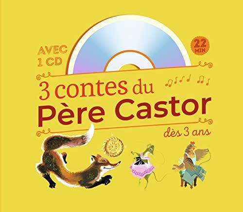 9782081246638: 3 contes du pere castor a ecouter des 3 ans + CD