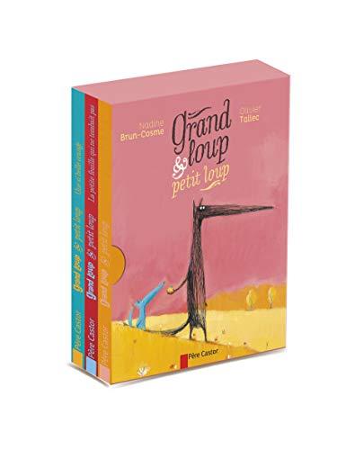 9782081286955: Grand loup & petit loup : Coffret en 3 volumes : Grand loup et petit loup ; La petite feuille qui ne tombait pas ; Une si belle orange