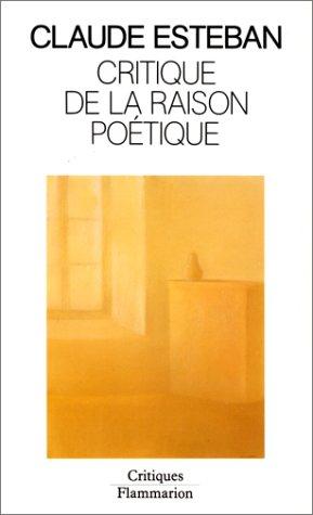 9782082115322: Critique de la raison poétique (Critiques)