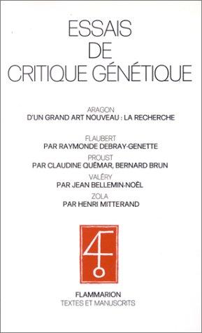 9782082118002: Essais de critique génétique (Textes et manuscrits) (French Edition)