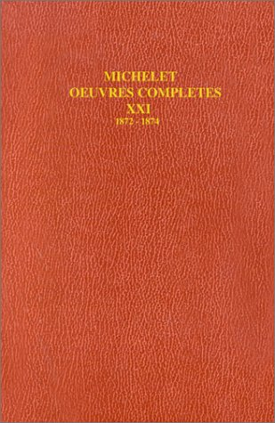 9782082123211: Michelet oeuvres rlcnlt21 (French Edition)