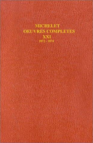 9782082123211: Oeuvres complètes de michelet