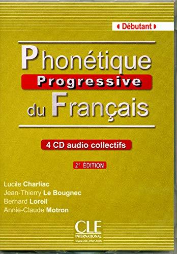9782090322767: Phonetique progressive du francais: CDs audio (4) debutant 2eme edition