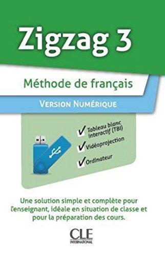 9782090325751: Zigzag 3 methode de francais version numerique sur cle USB (French Edition)