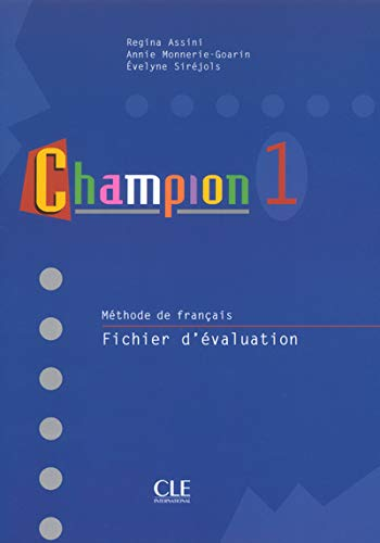9782090336863: Champion Level 1 Test Booklet (English and French Edition)