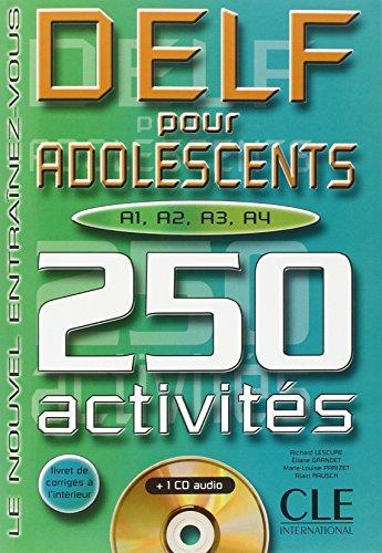 9782090337464: DELF pour adolescents A1, A2, A3, A4. 250 activités, avec CD audio (Clé)