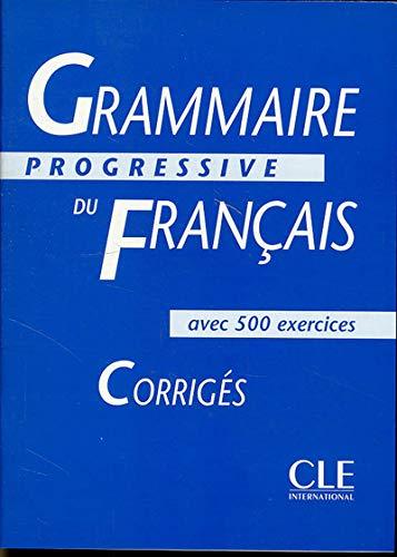 9782090338553: Grammaire Progressive Du Francais: Interediare Corriges (French Edition)